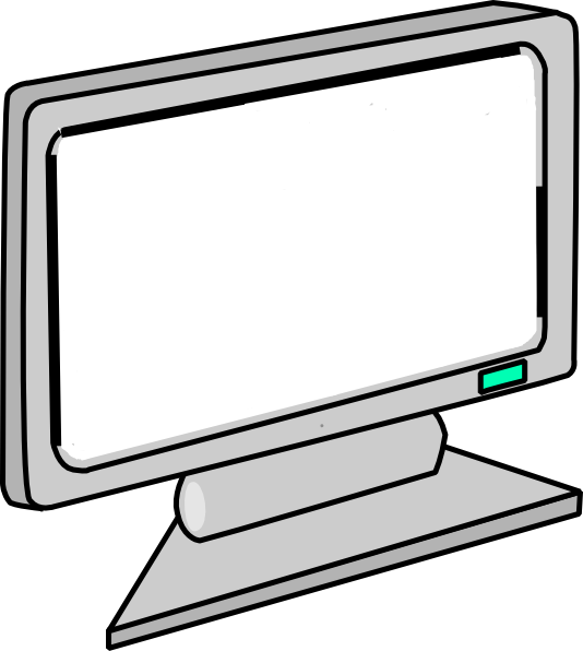 Computer clip monitor. Free picture of a