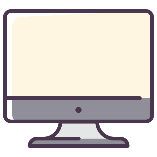 Monitor drawing computer component. Pc components screen display