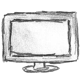 Monitor drawing computer png. Screen icon