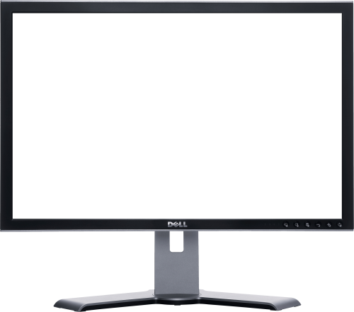 Monitor drawing personal computer. Screen twenty five isolated