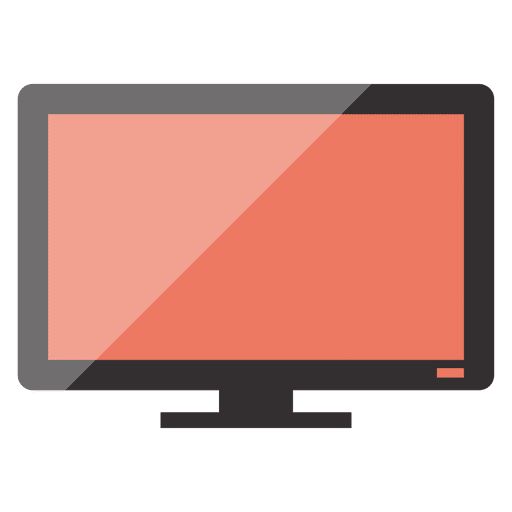 Monitor icon png. Flat transparent svg vector