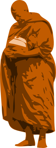 Monk vector. Buddhist clip art at