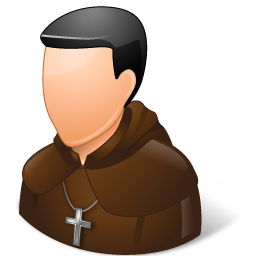 monk vector icon