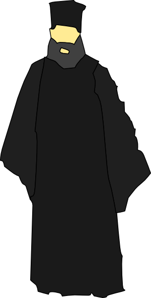 Monk vector clipart. Eastern church catholic clip