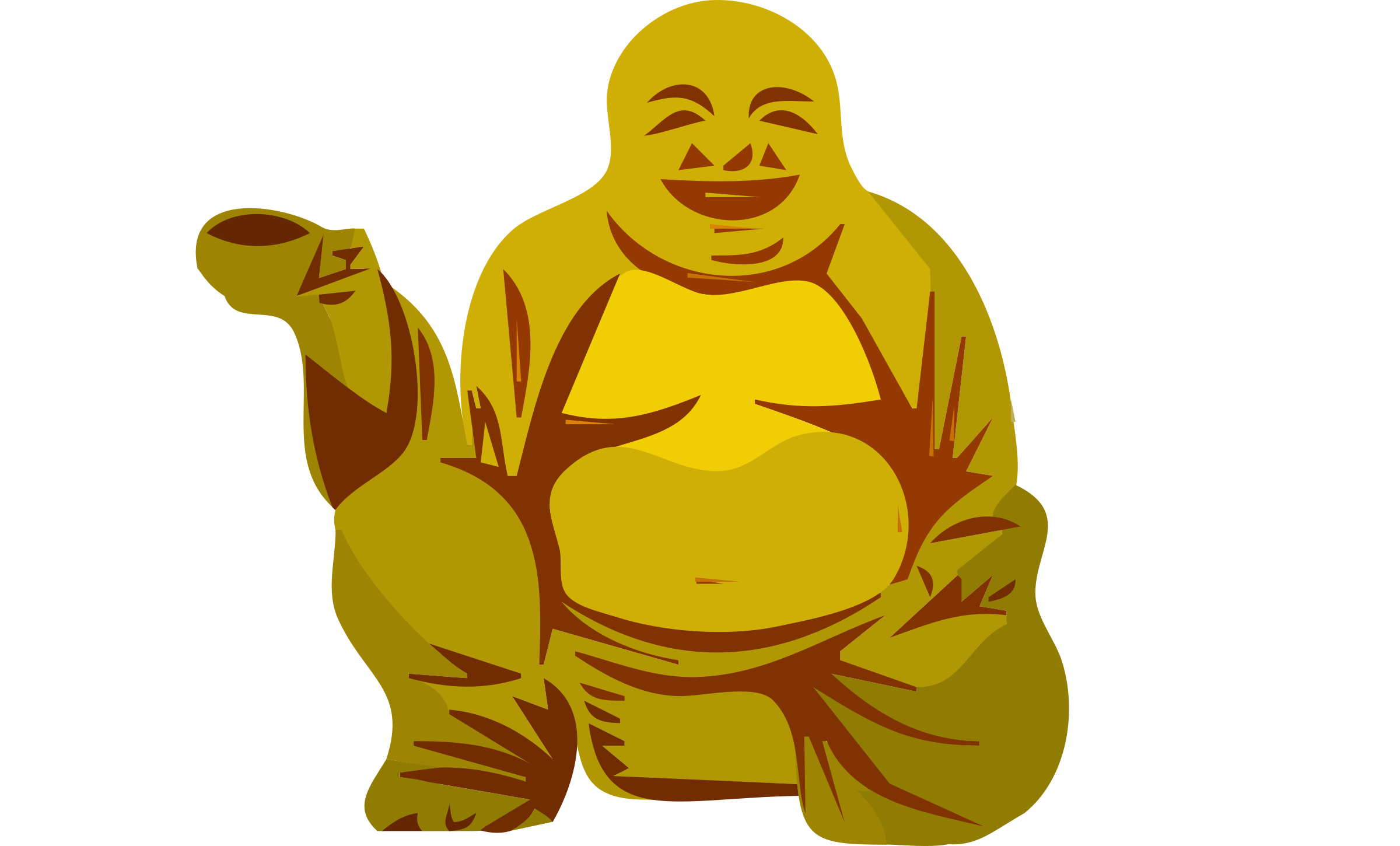 Monk vector happy buddha. Collection of free clipart