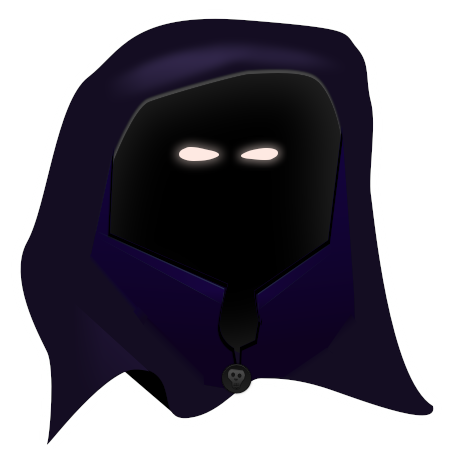 Monk vector hooded figure. Cloak artists win an