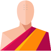 Monk vector icon. Png repo free icons