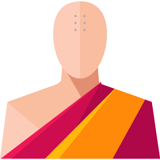 Monk vector icon. Free social icons
