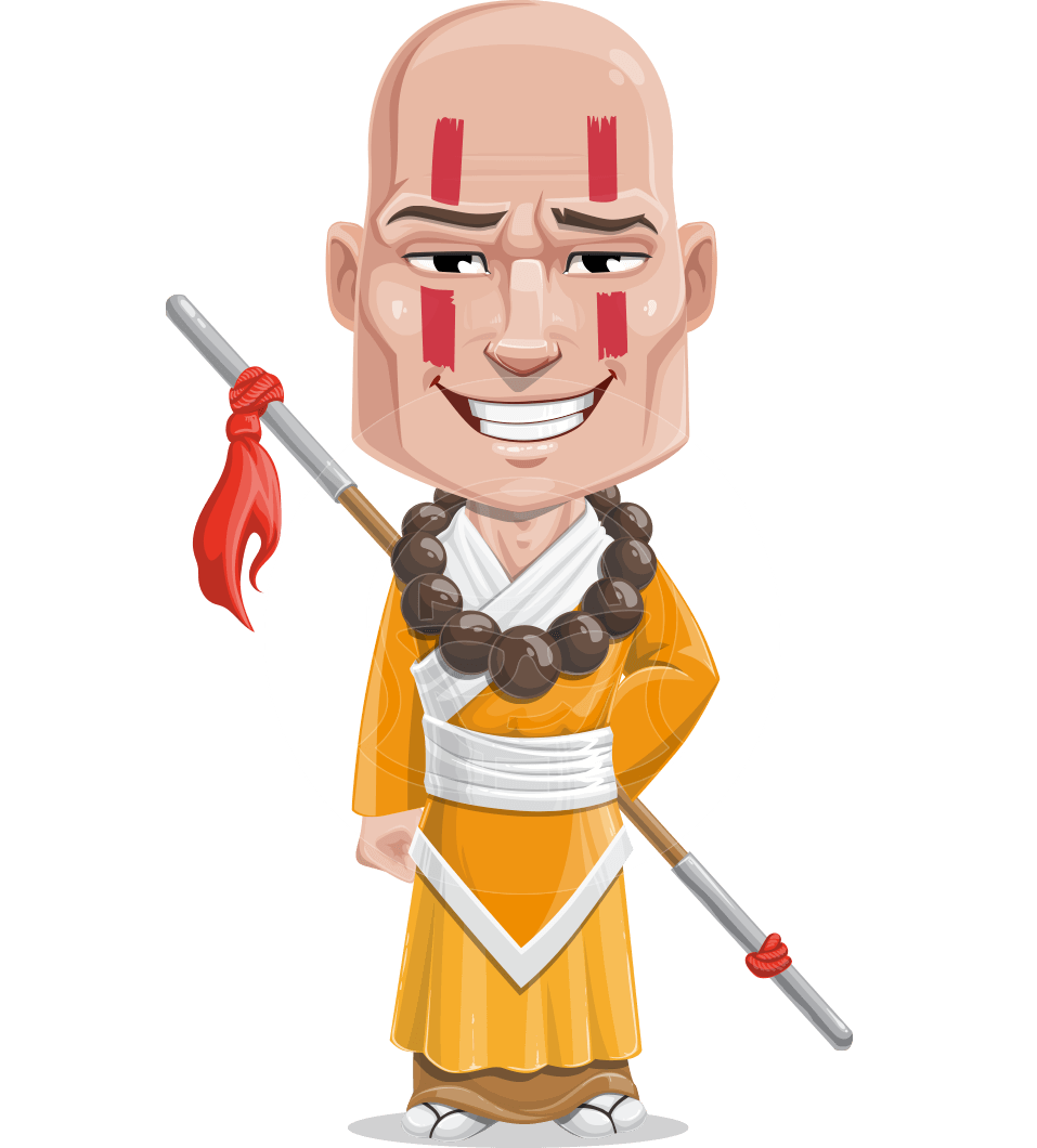 monk vector sketch