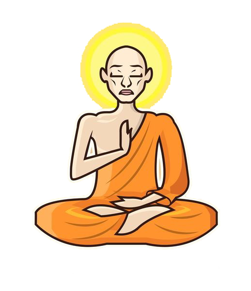 Monkas clipart monk meditation. At getdrawings com free
