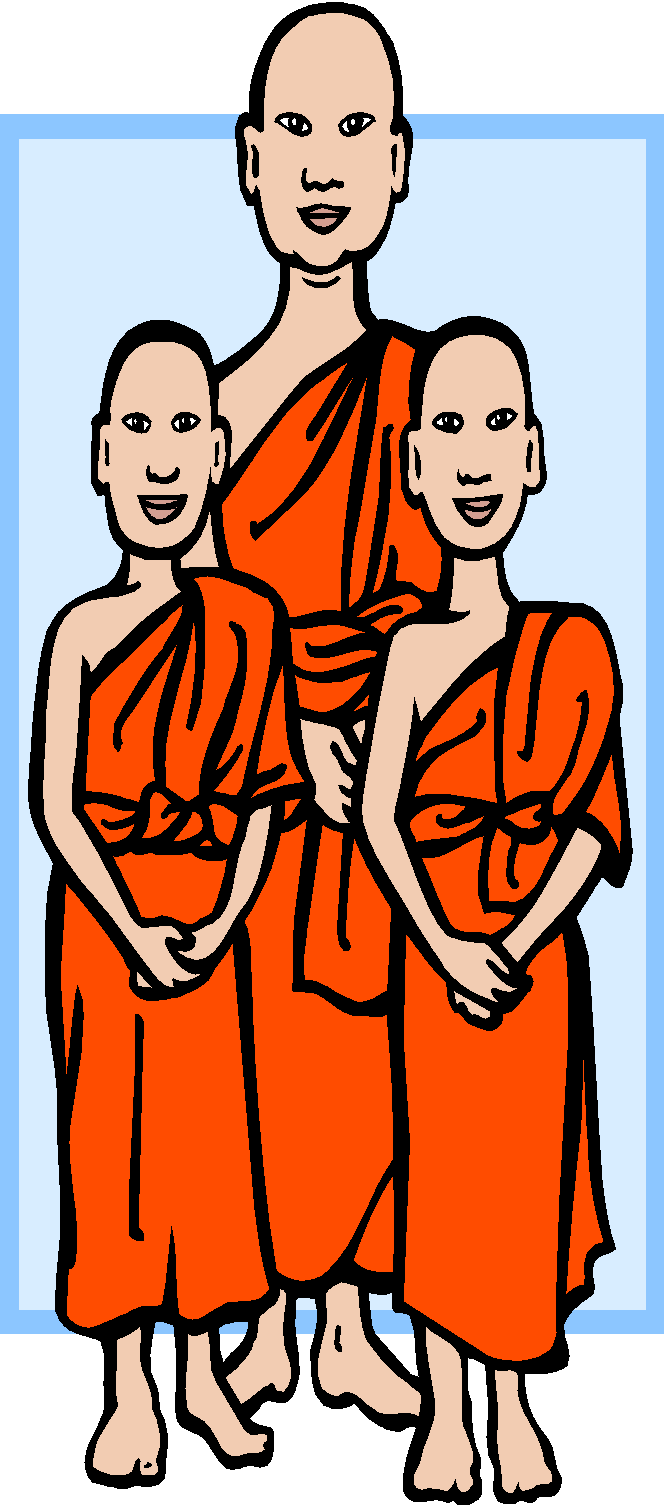 Monkas clipart buddhist monastery. The sacred book of