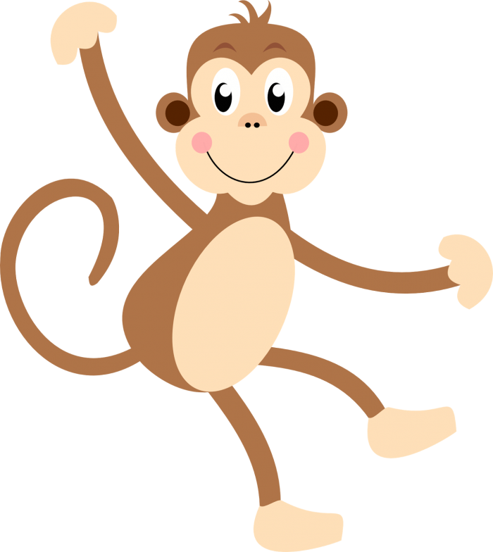Monkas clipart cute. Monkey vector psd peoplepng