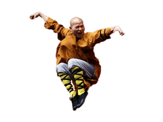 Monkas clipart monk shaolin. Jumping up transparent png