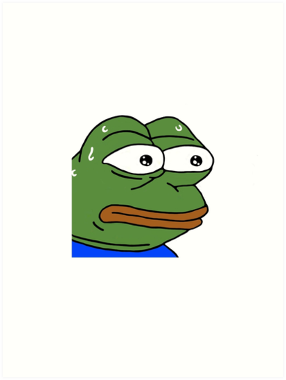 Monkas png transparent. Emote art prints by