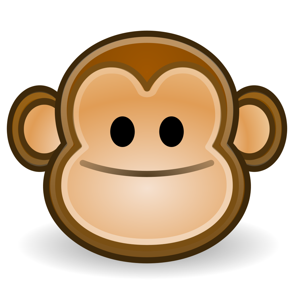 Monkey. File face svg wikipedia