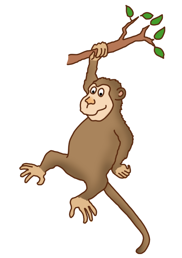 Monkey arms png. Funny drawings clip art