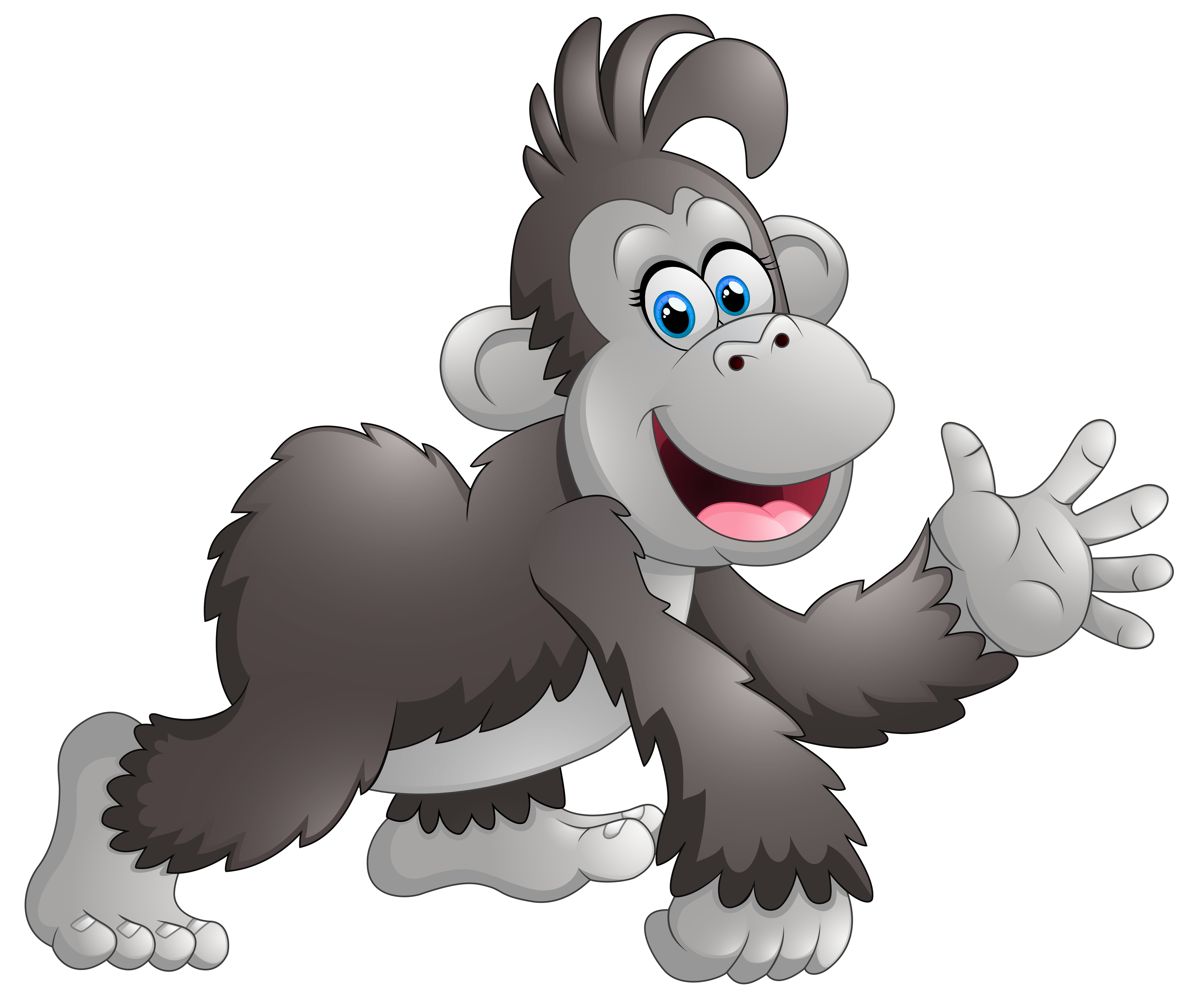 Monkey cartoon png. Happy clipart image gallery