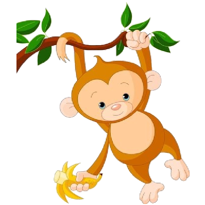 Monkey clipart number. Free cartoon cliparts download
