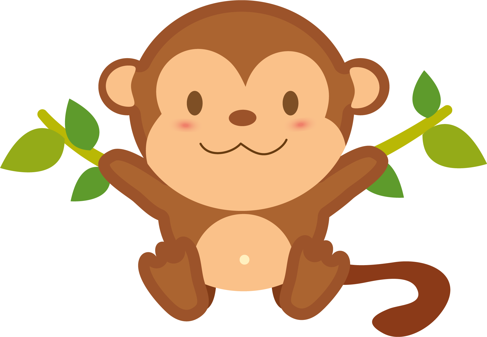 Monkey clipart number. Png transparent free images