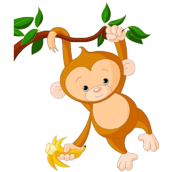 Monkeys eating bananas clipart png. Cute monkey at getdrawings
