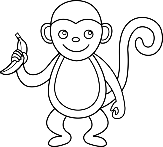 Rocky drawing black and white. Monkey clip art jpg