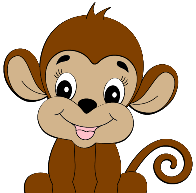 Monkey clipart summer. Images cute is credited
