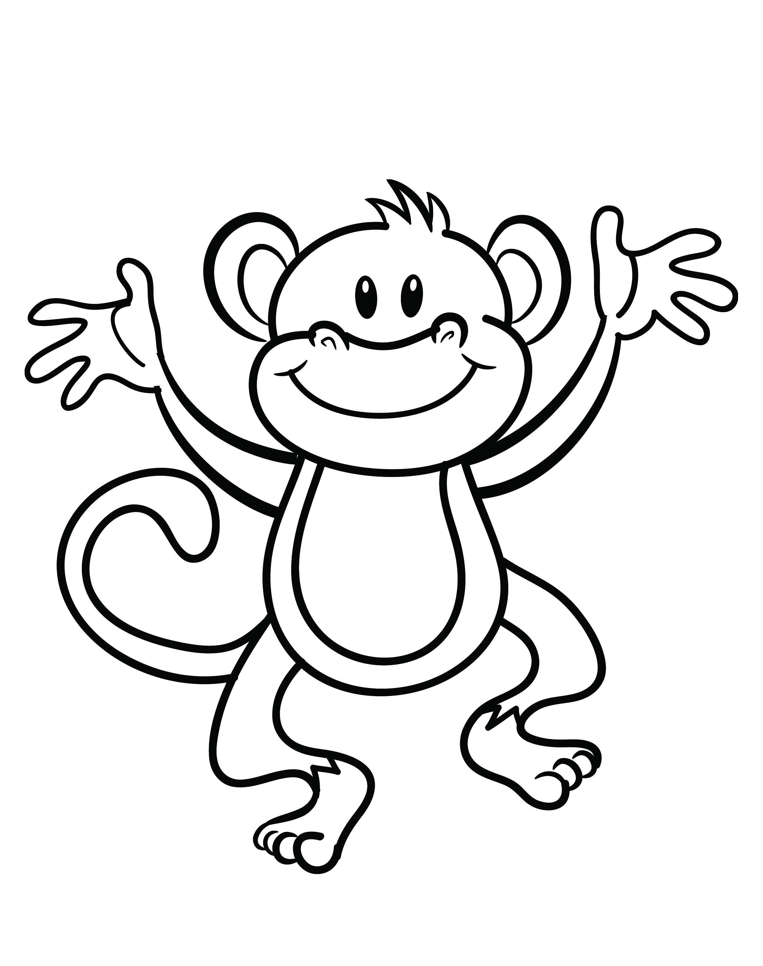 Monkey coloring for grown ups. Pages free printable st