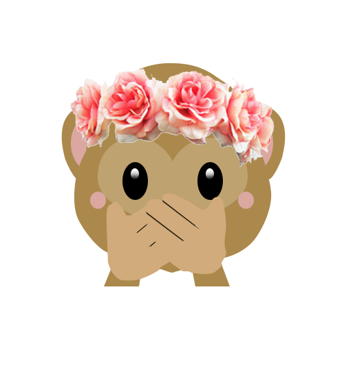 Emoji monkey png. Image about girl in