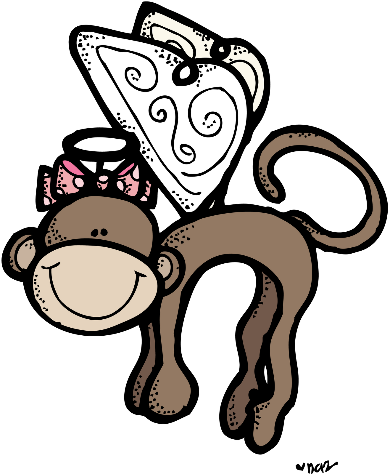 Monkey full color png. Flying melonheadz colored pixels