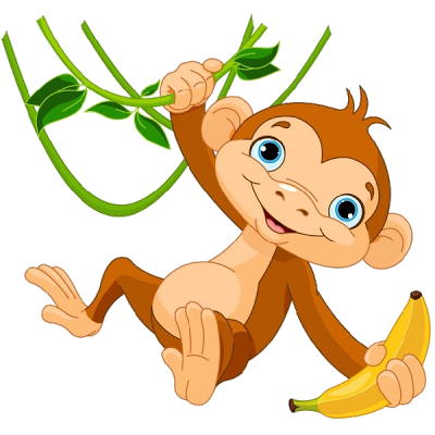 Dogs vector cartoonish. Monkeys cartoon clip art