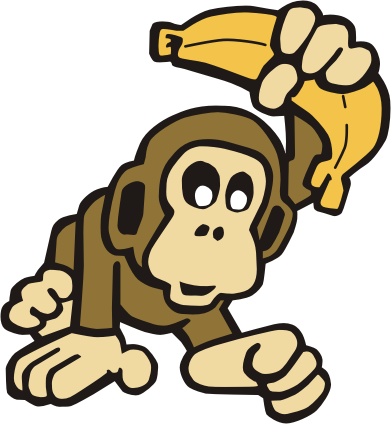Monkeys bananas clipart png. Do or chimps really
