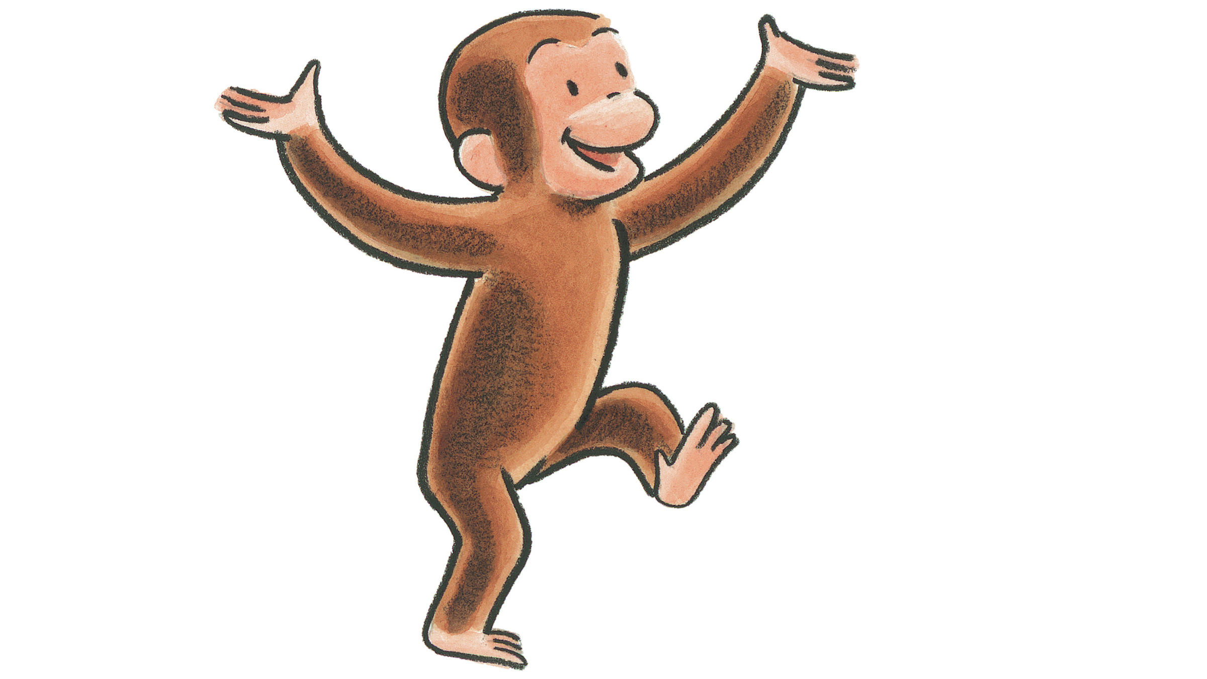 Curious george clipart monkey. Celebrates years of business