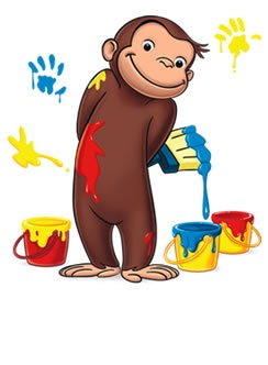 Curious george clipart monkey. Best images on