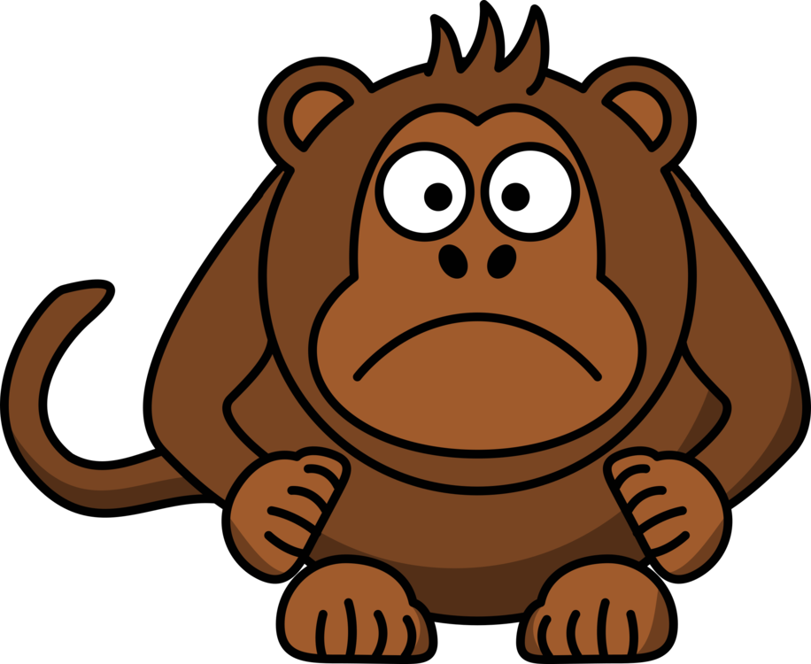Chimp drawing painting. Foot clip art clipart