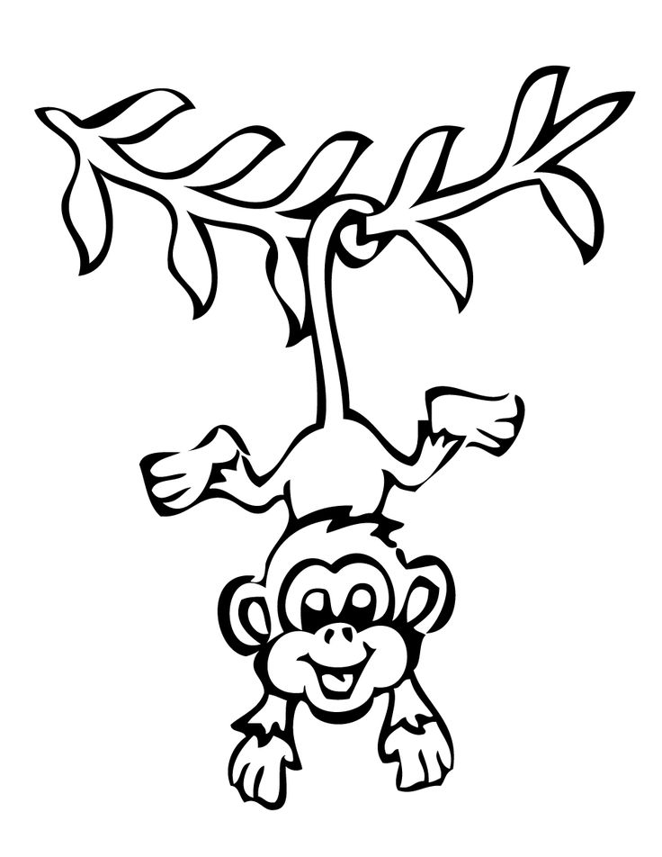 Monkeys clipart outline. The best tattoos tiny