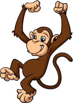 Monkey clipart. Funny baby pictures monkeys