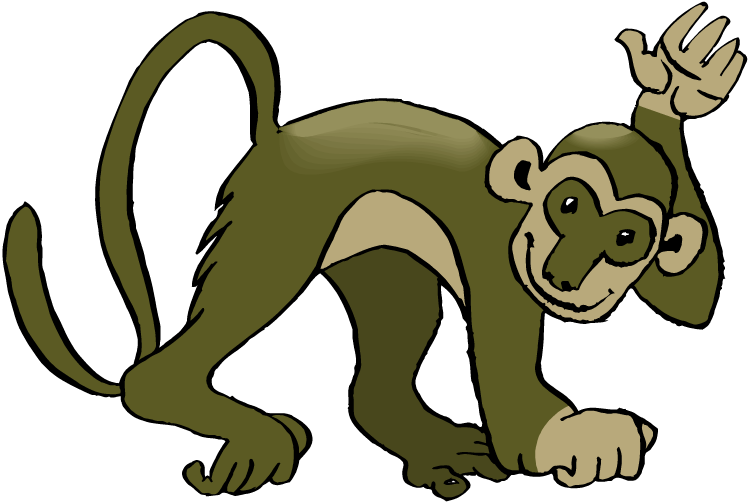 Spider monkey png. Baby squirrel clipart