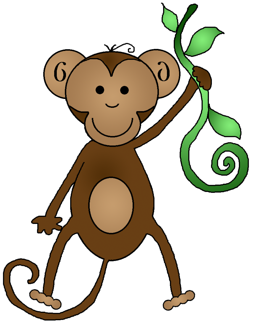 Monkeys eating bananas clipart png. Baby monkey with banana