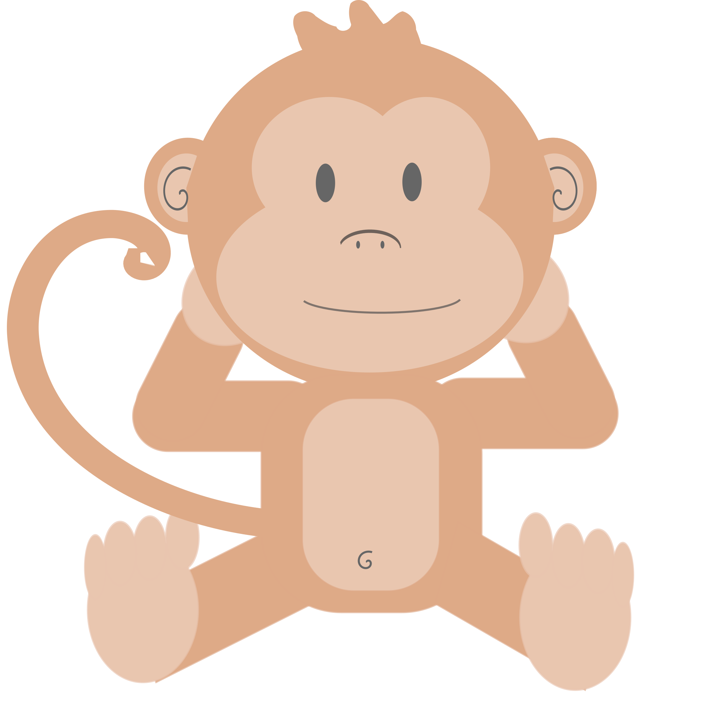 Monkeys eating bananas clipart png. Cartoon monkey without his