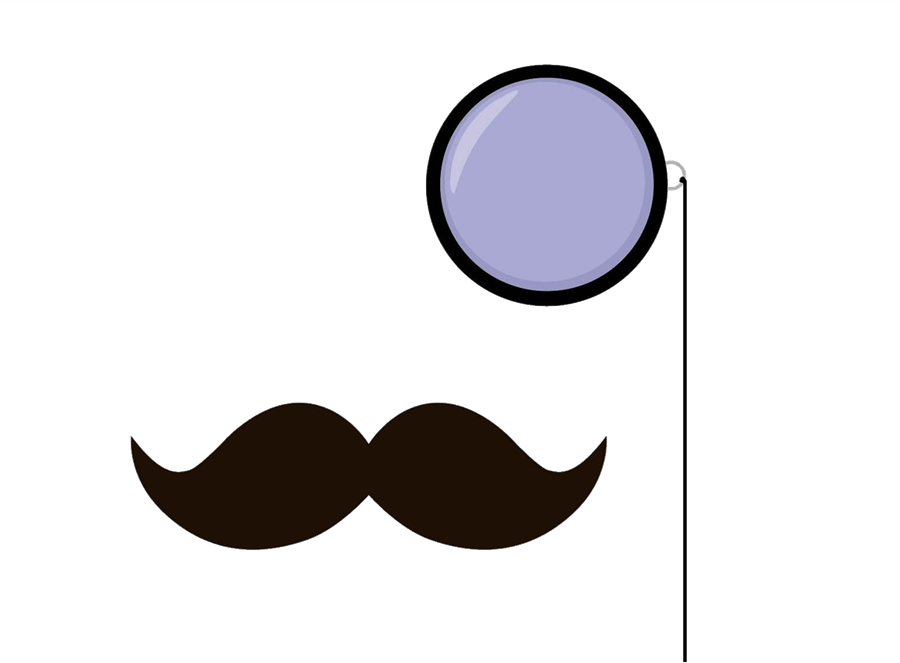 Monocle drawing. Clipart