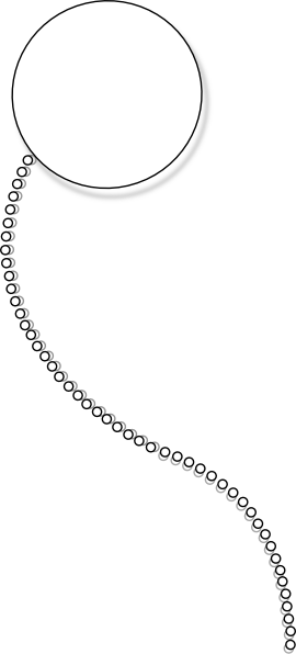 monocle clipart chain