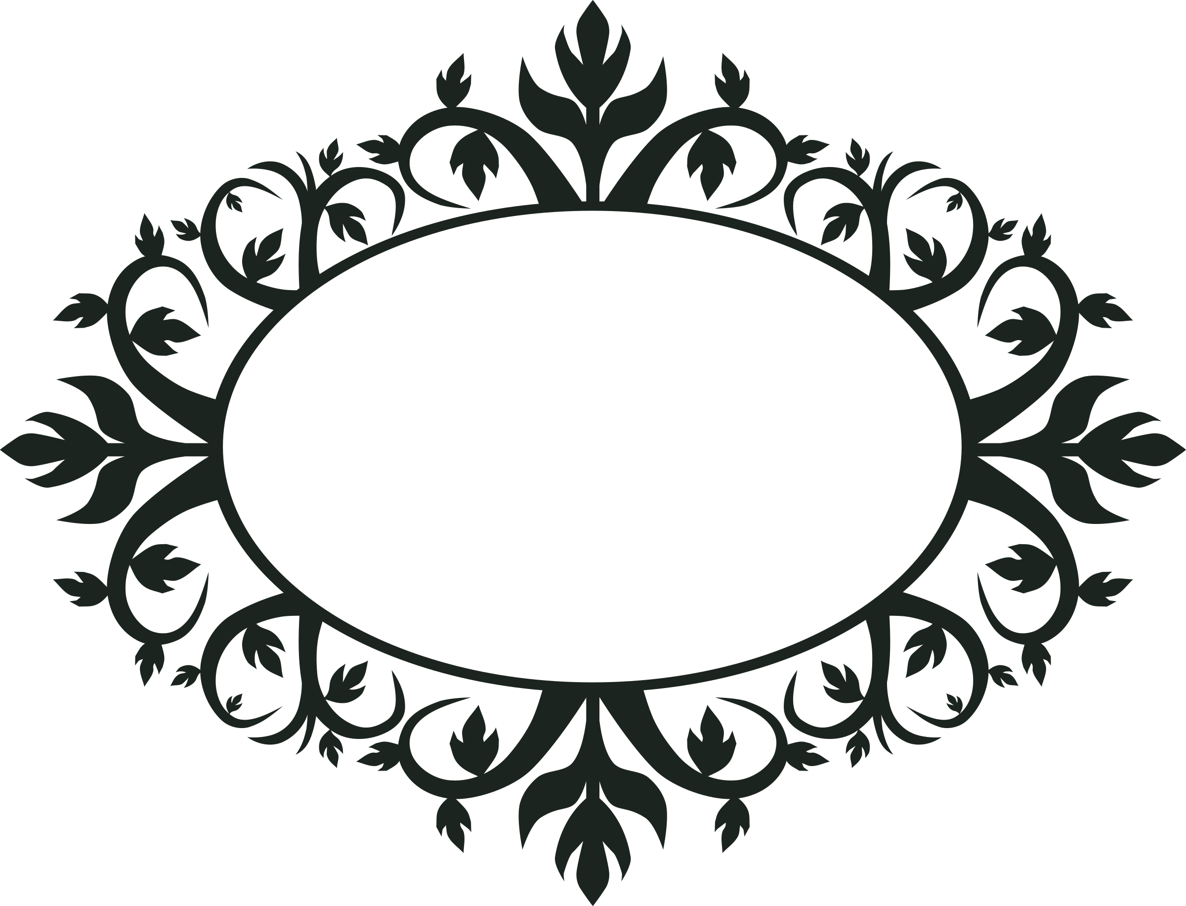 Monogram border png. Ornament oval frame by