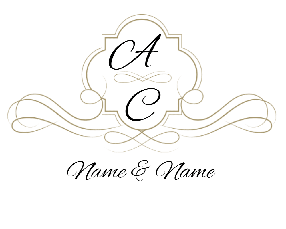 Free Customizable Monogram Frames and Borders