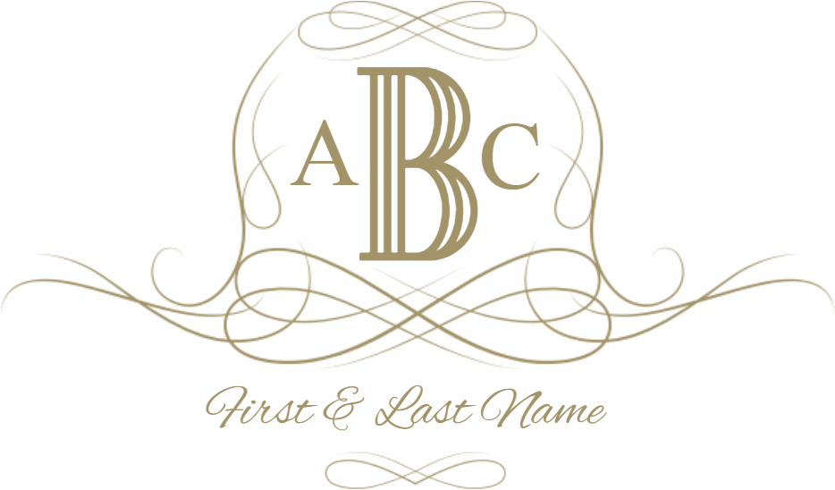 Monogram frames png. Download free customizable and
