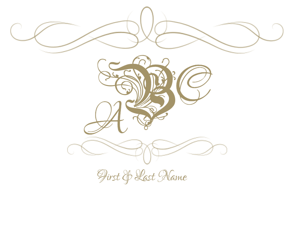 Monogram frames png. Free customizable and borders