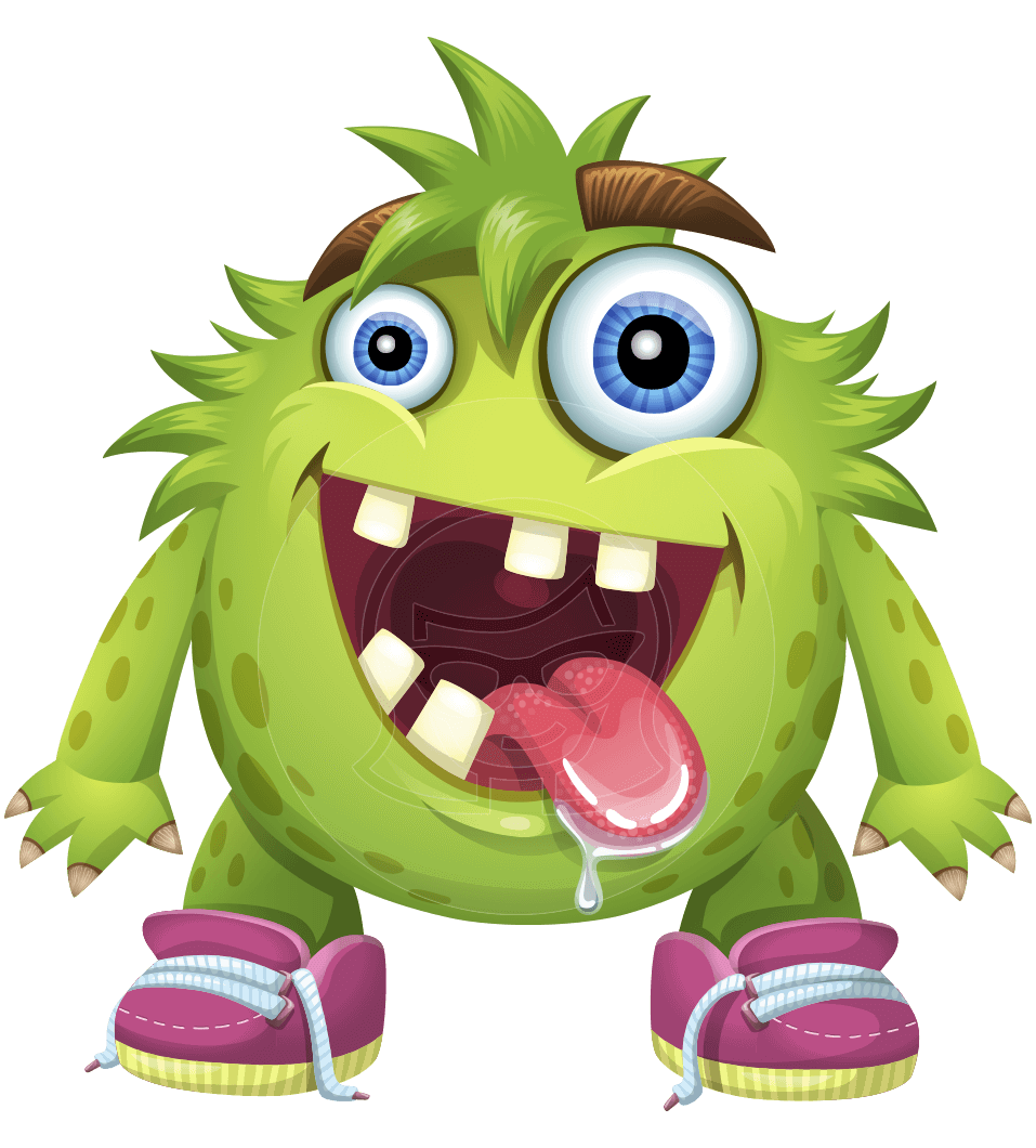 Cartoon character hal the. Vector monster file clipart transparent stock