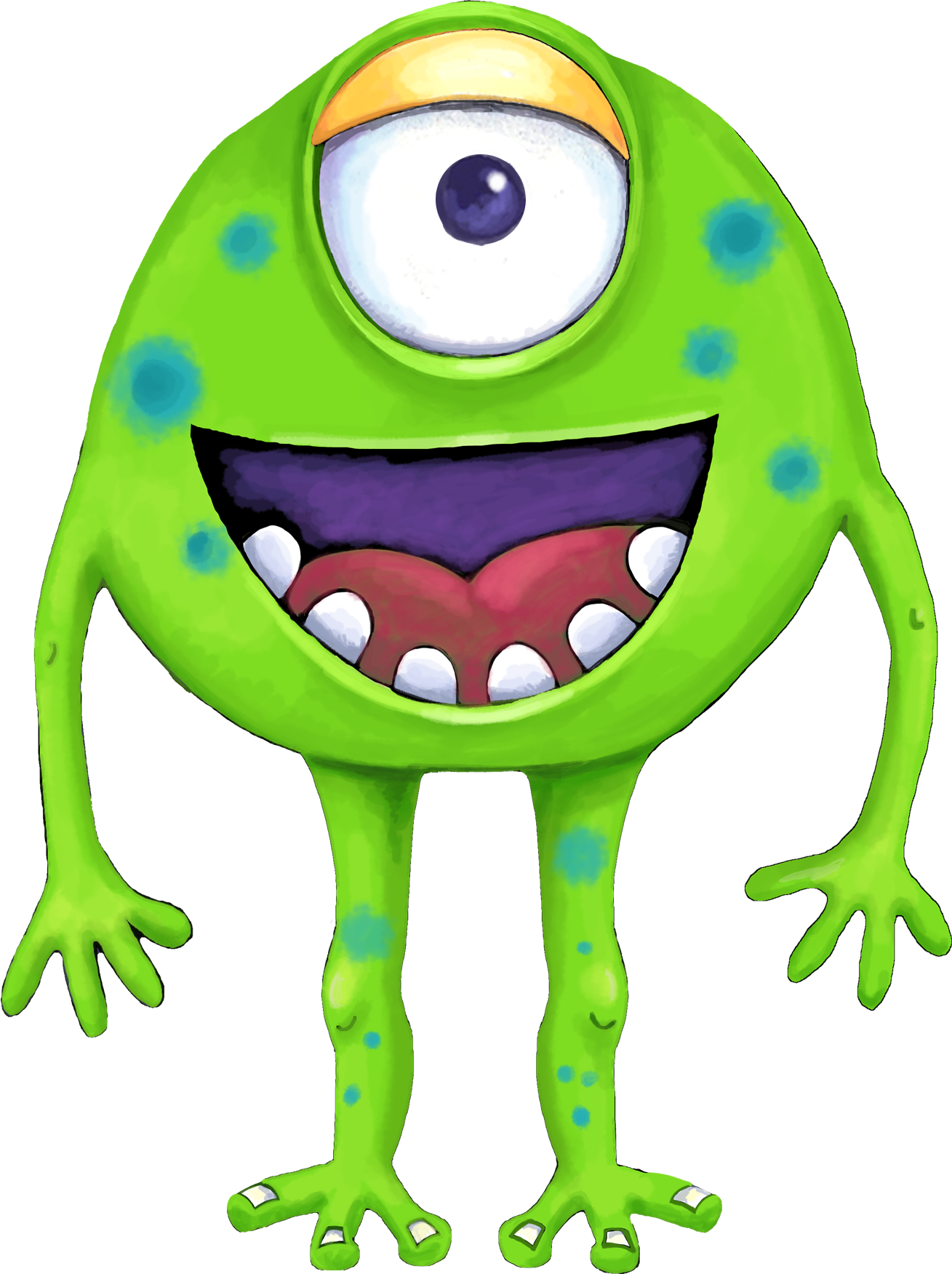 Monster clip lime green. Collection of free aliene