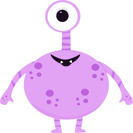 Monster clip one eyed. Clipart