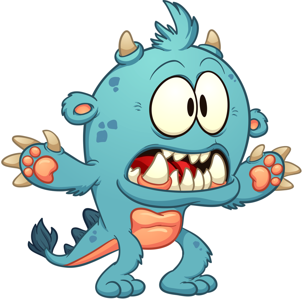 Monster clip spooky. Scary cartoon pics group