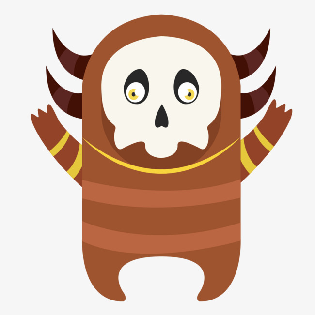 Monster clipart brown monster. Interesting mask png image